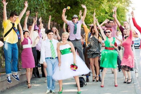 Оригинальная свадьба в стиле стиляг